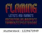 flaming letters and numbers... | Shutterstock .eps vector #1229673949