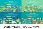 ecology  green technology ... | Shutterstock .eps vector #1229674096