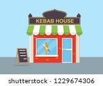 kebab house vector illustration. | Shutterstock .eps vector #1229674306
