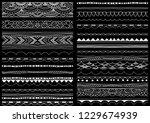 border  ribbon  brush line set. ... | Shutterstock .eps vector #1229674939