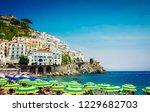 amalfi town beach and... | Shutterstock . vector #1229682703