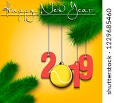 happy new year and numbers 2019 ...   Shutterstock .eps vector #1229685460