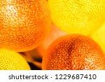 orange yellow glowing balls.... | Shutterstock . vector #1229687410