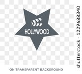 trendy flat vector hollywood... | Shutterstock .eps vector #1229688340
