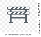 barrier icon. trendy flat... | Shutterstock .eps vector #1229689573