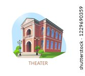 theatre facade or theater... | Shutterstock .eps vector #1229690359