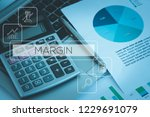 margin and workplace concept | Shutterstock . vector #1229691079