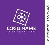 snowflake logo concept....