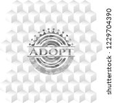 adopt realistic grey emblem... | Shutterstock .eps vector #1229704390