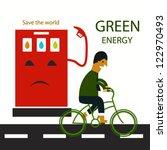green energy concept | Shutterstock .eps vector #122970493
