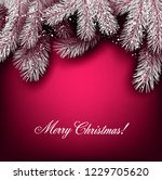 christmas background with white ... | Shutterstock .eps vector #1229705620