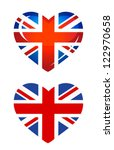 country uk flag as heart icon | Shutterstock .eps vector #122970658