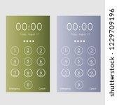 phone lock screen. vector | Shutterstock .eps vector #1229709196