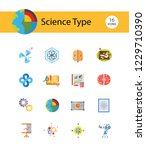 science type icon set.... | Shutterstock .eps vector #1229710390