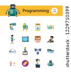 programming icon set. robot... | Shutterstock .eps vector #1229710399