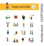 people and coffee icon set.... | Shutterstock .eps vector #1229710426