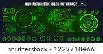 hud futuristic green user... | Shutterstock .eps vector #1229718466