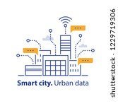 smart city  collecting urban... | Shutterstock .eps vector #1229719306