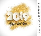 2019 happy new year background. ... | Shutterstock .eps vector #1229719513