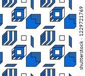 vector geometric seamless... | Shutterstock .eps vector #1229721769