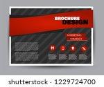 flyer  brochure  billboard... | Shutterstock .eps vector #1229724700