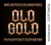 old gold alphabet font. ornate... | Shutterstock .eps vector #1229726626