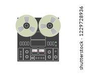 tape recorder illustration | Shutterstock .eps vector #1229728936