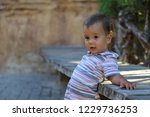 outdoor portrait of little boy | Shutterstock . vector #1229736253