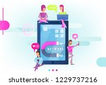 modern flat design concept of... | Shutterstock .eps vector #1229737216
