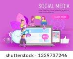 social network concept. young... | Shutterstock .eps vector #1229737246