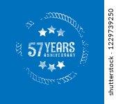 57 years anniversary... | Shutterstock .eps vector #1229739250