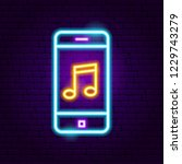 Phone Music Neon Sign. Vector...