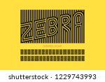 striped font design  alphabet... | Shutterstock .eps vector #1229743993