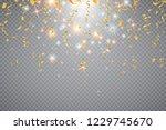 colorful bright confetti...   Shutterstock .eps vector #1229745670