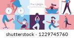 vector illustration of healthy... | Shutterstock .eps vector #1229745760