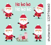141118 set of cute santa claus...   Shutterstock .eps vector #1229746660