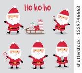 set of cute santa claus design  ...   Shutterstock .eps vector #1229746663