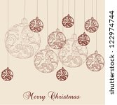 christmas ball | Shutterstock . vector #122974744