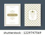 christmas greeting card design... | Shutterstock .eps vector #1229747569