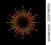 vibrant firework explosion... | Shutterstock .eps vector #1229748310