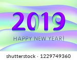 2019 happy new year greeting... | Shutterstock .eps vector #1229749360
