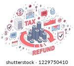 money circulation  return on...   Shutterstock .eps vector #1229750410