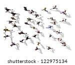 Jogging People Seen From Birds...