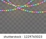 christmas lights isolated on...   Shutterstock .eps vector #1229765023