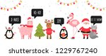 merry christmas and happy new... | Shutterstock .eps vector #1229767240