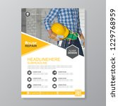 construction tools cover a4... | Shutterstock .eps vector #1229768959