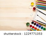 sketchbook and drawing... | Shutterstock . vector #1229771353