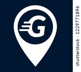 letter g and map pointer. logo...