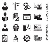 project manager icons. black... | Shutterstock .eps vector #1229774266