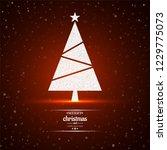 merry christmas tree red... | Shutterstock .eps vector #1229775073